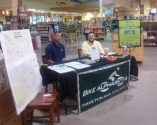 France and Kirk working the Bike Alpharetta's 5% off event.