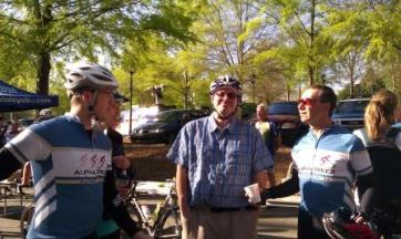 The Alpha Bike staff helping support the Georgia Rides to the Capital event.