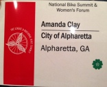 Amanda Clay attends the Women's Forum at the National Bike Summit.