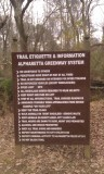 Be sure to follow the trail etiquette when walking or biking the greenway trails!