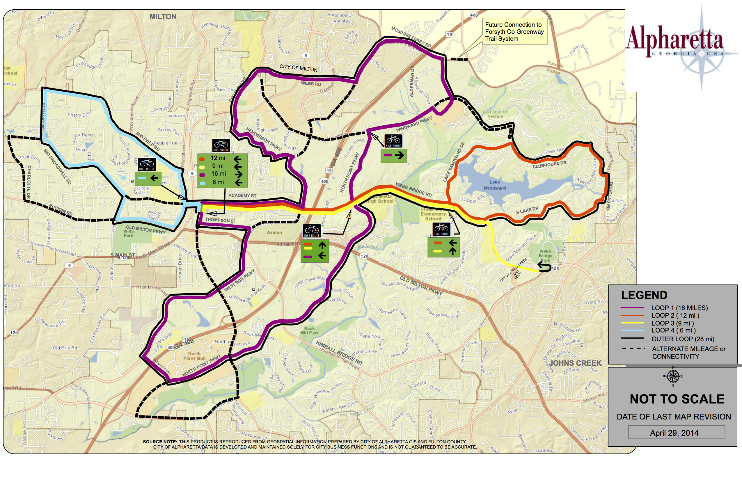 Alpharetta Rolls Out City Bike Routes Alpharetta GA Patch