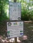 Detailed trail signs for Mt Adams (1/2 mile from YMCA)