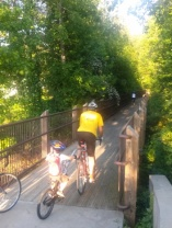 Shhh! The Ride of Silence begins on the Big Creek Greenway!