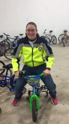 Officer A. Clay is a champion for Bikes For Kids