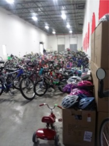 265 bikes/trikes and 210 new helmets