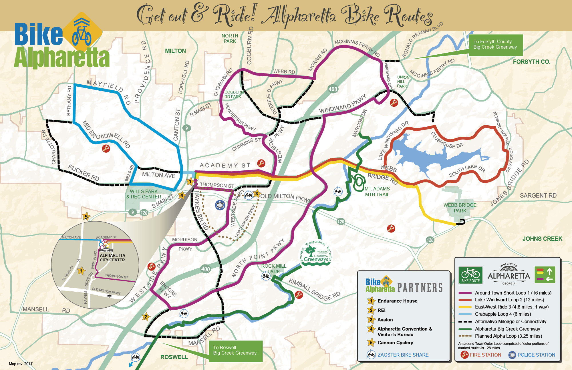 Out About Bike Alpharetta - Map my bike
