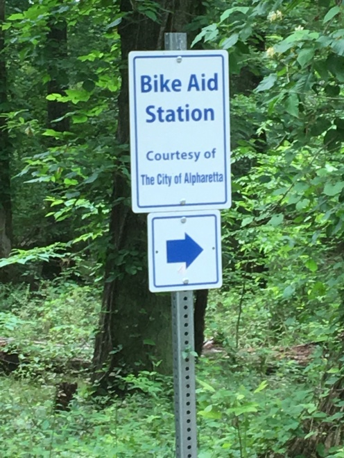 Two Bike Aid Stations on Greenway